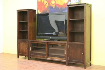 tv stand with side shelves telfo brown tv stand with side shelves racks stands carts home theater seats