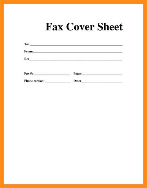 6 free printable cover sheet actor resumed