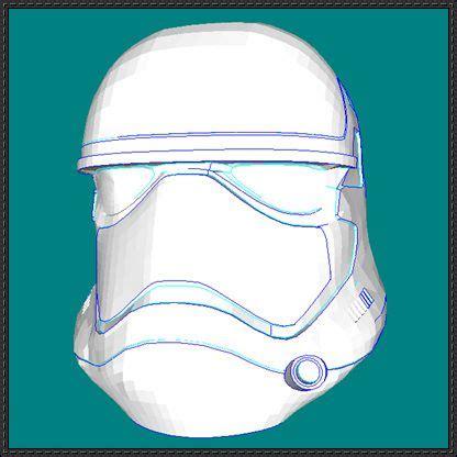 Papercraft Stormtrooper Helmet - wars the awakens stormtrooper helmet free