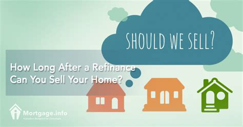 can you sell a house with a mortgage how long after a refinance can you sell your home mortgage info
