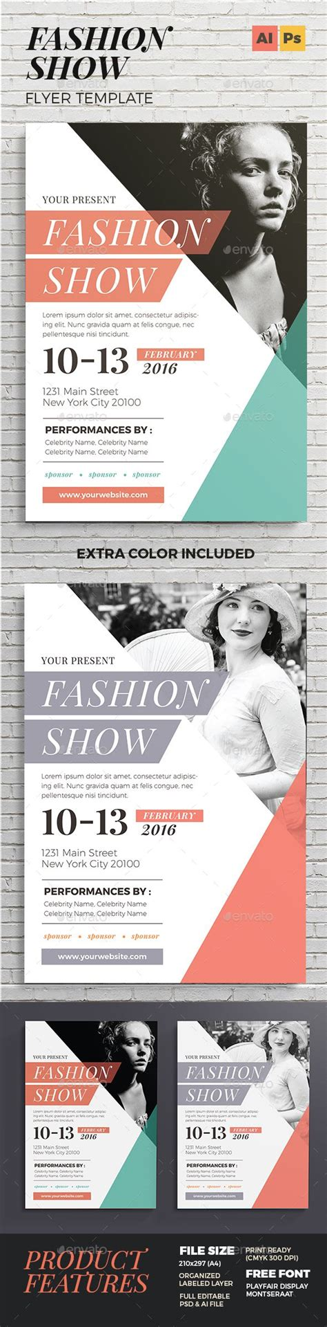 Fashion Show Flyer Design Grafisk Design Och Skola Show Template