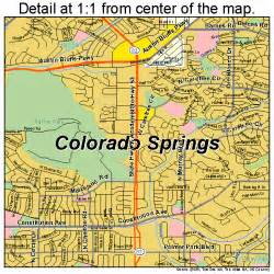 map colorado springs co colorado springs colorado map 0816000