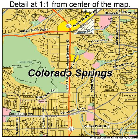 colorado springs subdivisions map about maps of colorado springs colorado springs