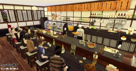 Wacha A New Japanese Boutique And Restaurant by My Sims 4 Japanese Tavern And Object Recolors By