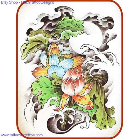 tattoo flash cd download flower tattoo flash design 11 for you on etsy top quality
