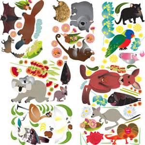 Australian Animal Wall Stickers australian animals wall stickers bellas little ones buy