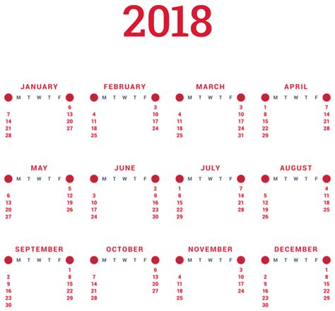 art gallery calendar 2018 transparent 2018 calendar png clip art gallery yopriceville high quality images and