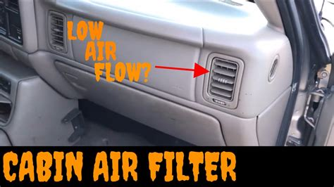 Where Is The Cabin Filter Located by Silverado Cabin Air Filter Location 2002 Avalanche Cabin