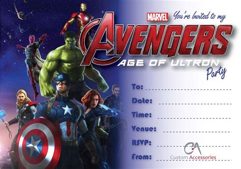avengers party invitations theruntime com