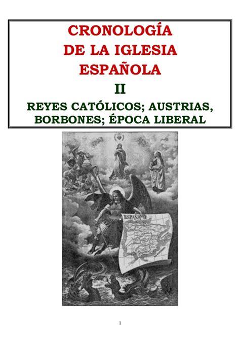 libro historia de espaa en historia del catolicismo en espa 241 a cronologia