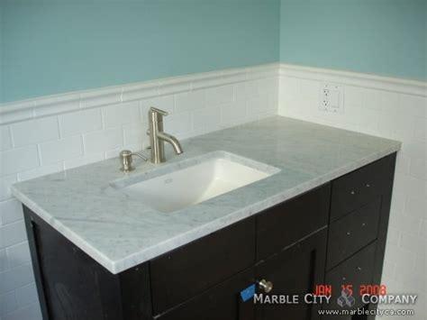 bianco carrara honed marble countertops for vanity in
