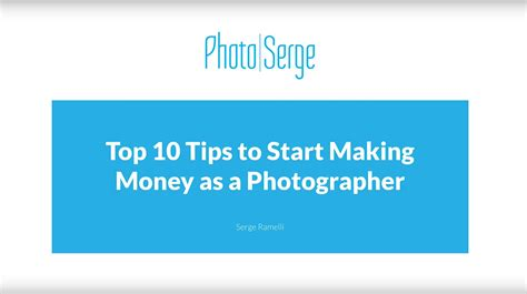 10 tips for 20 tips make the money you need stay out of the weeds books how to make money as a photographer