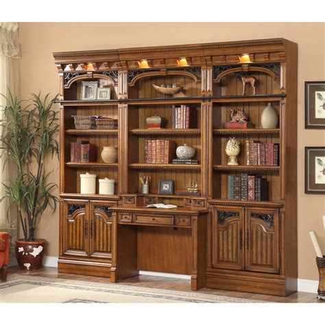 wall unit with desk and bookcases house barcelona 4pc library bookcase wall unit with