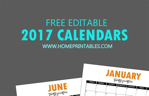 Calendar Template September 2017 Editable Free Editable 2017 Calendar In Word Pretty Template