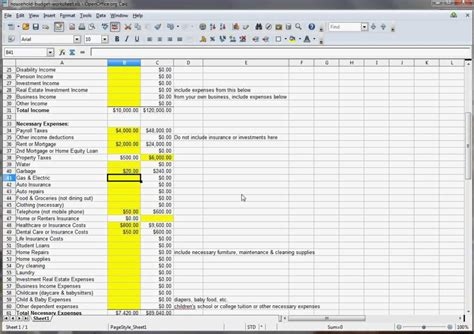 financial budget template excel household budget excel template spreadsheets