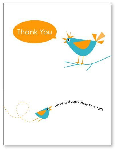 happy new year free printable thank you card