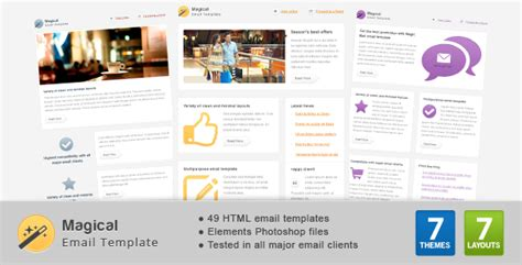 Themeforest Html Email Template Magical Email Template By Gifky Themeforest