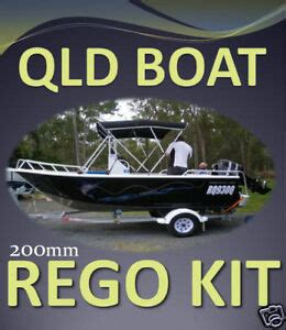 boat registration qld qld boat registration decal sticker kit planing boat ebay