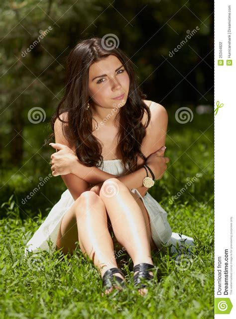 12chan girls young girl chilling in green park outdoors stock