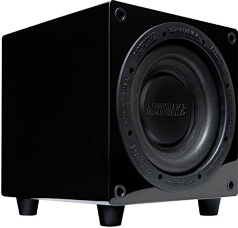 Speaker V8 Minime Earthquake Sound Minime Ff8 V2 8 Inch Front Firing Powered Mini Subwoofer