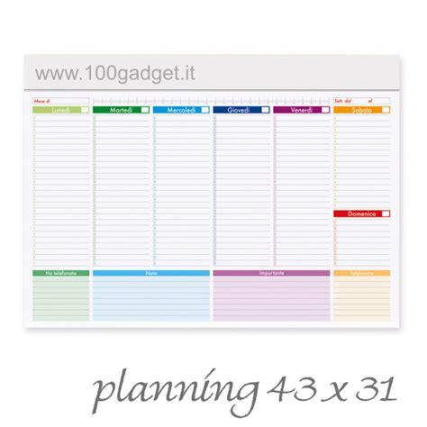 planning settimanale da scrivania planning settimanale multicolor 100 gadget
