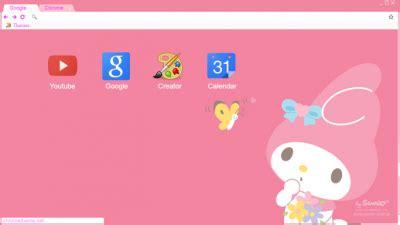 theme google chrome my melody my melody chrome themes themebeta