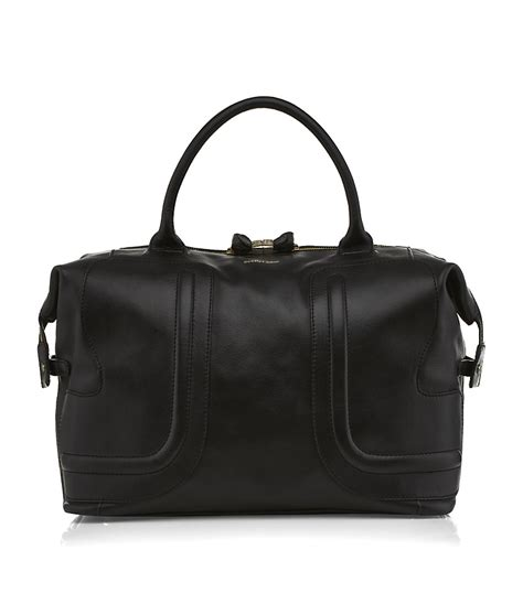 24 Hour Handbag by See By Chlo 233 24 Hour Bag In Black Gold Lyst
