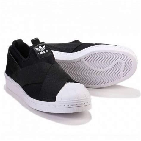 originals adidas s81337 superstar slip on casual shoes black white ebay
