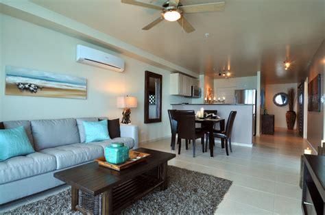 Beachfront Condo Design Tropical Living Room Toronto by TLC Design & Decor