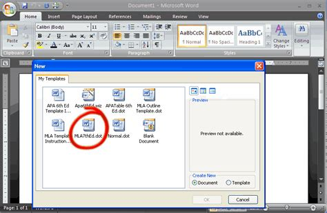 how to set your essay to mla format in ms word 2007 microsoft