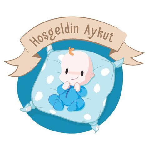 yastikli baby shower erkek bebek sticker stickerimcom