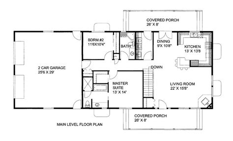 1500 square foot house plans 1500 square feet 2 bedrooms 2 batrooms 2 parking space on 1