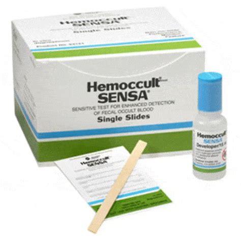 Hemoccult Positive Stools by Hemoccult Sensa 100 Single Slide Test Cards 2 Developers