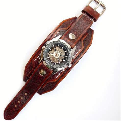 reloj brazalete cuero reloj brazalete de cuero brazalete cuero marr 243 n vintage