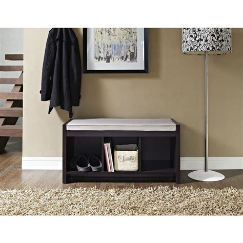 espresso bench with storage altra furniture altra penelope espresso storage bench