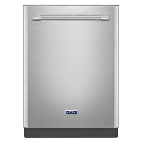 maytag top dishwasher in monochromatic stainless