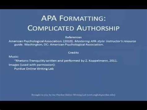 apa style and format guidelines youtube 36 best images about apa style on pinterest a website