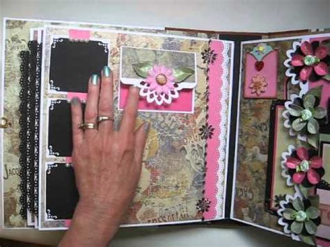 How To Make A Handmade Scrapbook Album - handmade large not mini 11x11 scrapbook album tutorial