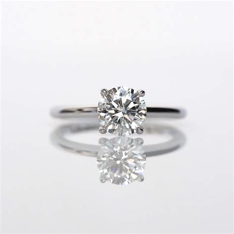solitaire engagement ring dainty engagement