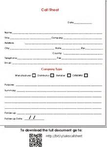 Sales Record Template by Sales Call Sheet Template Sales Representatives May Be