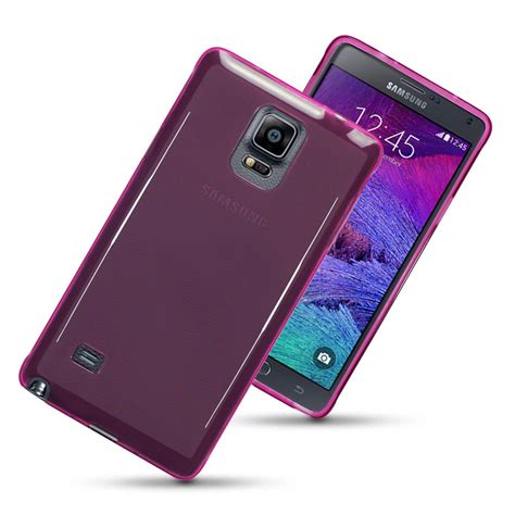 Casingcase For Samsung Galaxy Note 4 Tpu Transparenttransparan flexi for samsung galaxy note 4 smoke pink