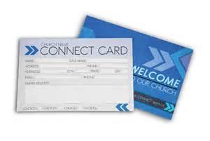 postcard psd template church connect card blue