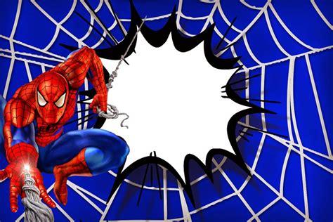 Spiderman Party Invitation Template   Disneyforever   HD Invitation Card Portal