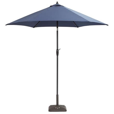 Camo Patio Umbrella Hton Bay 9 Ft Aluminum Patio Umbrella In Midnight With Tilt 9900 01297011 The Home Depot