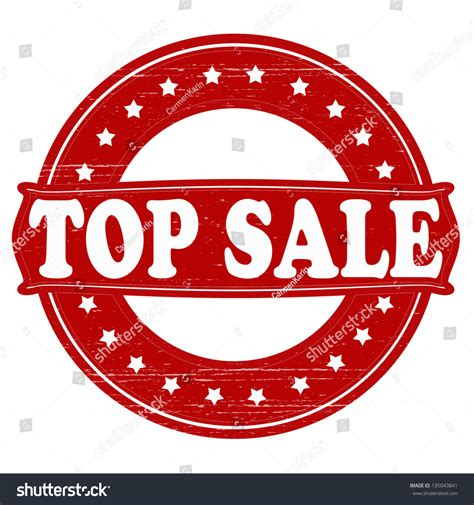 st with text top sale inside vector illustration