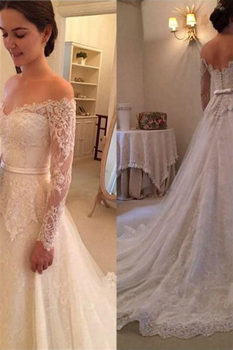 long sleeves   shoulder  arrival bridal gowns