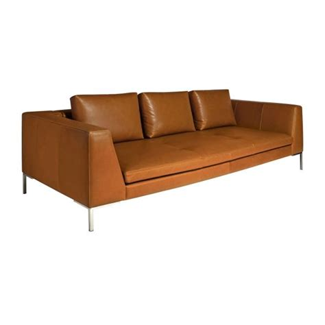 aniline leather sofa care montino 3 seater sofa in vintage aniline leather chestnut habitat