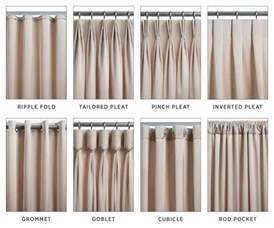curtain styles the 8 most common types of drapery pinteres