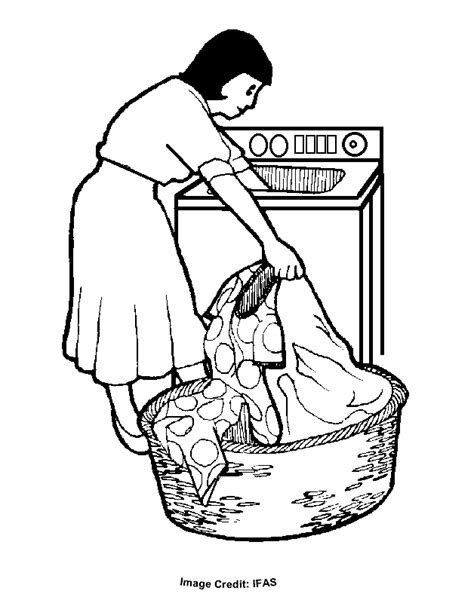 free coloring pages of doing laundry