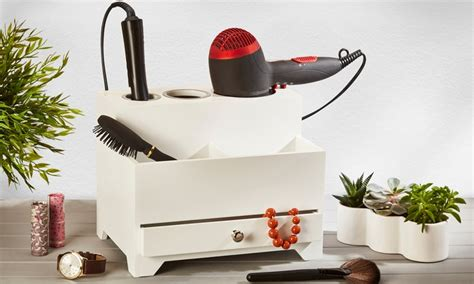 Hair Style Tools Bag Activities by Wooden Cosmetic Organisers Groupon Goods